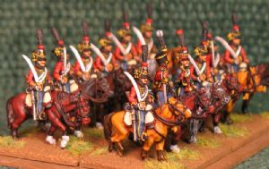 15mm, Napoleonic French Hussars (4th) AB 12 Figures